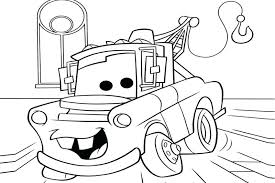 Cars Coloring Pages Mater From