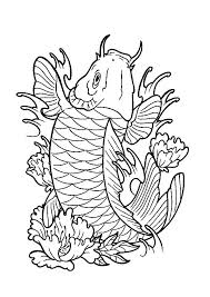 Koi Fish Expensive Coloring Pages PagesFull Size Image