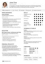 Architect Resume Example 2018 Update Yours In 5 Minutes Throughout Architecture Examples