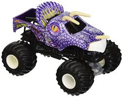 100 Hot Wheels Monster Truck Toys Jam Jurassic Attack Vehicle Multicolor