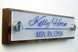 fice Door Name Plate Personalized fice Accessories and
