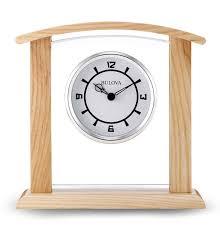 Bulova Table Clocks Wood by B5016 Athena By Bulova Clocks