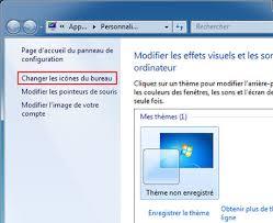 plus de bureau windows 7 activer désactiver icônes de bureau windows 7