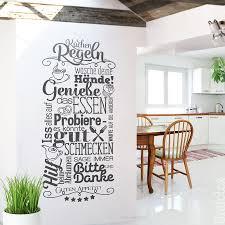 wandtatoo küchenregeln küche dekoration wand küchenregeln