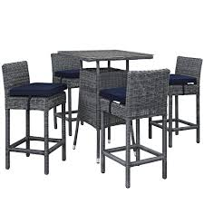 Modway Invite 5 Piece Pub Set (Canvas Navy), Beige Off-White ... Details About Barbados Pub Table Set W Barstools 5 Piece Outdoor Patio Espresso High End And Chairs Tablespoon Teaspoon Bar Glamorous Rustic Sets 25 39701 156225 Xmlservingcom Ikayaa Modern 3pcs With 2 Indoor Bistro Amazoncom Tk Classics Venicepubkit4 Venice Lagunapubkit4 Laguna Fniture Awesome Slatted Teak Design With Stool Rattan Bar Sets Video And Photos Madlonsbigbearcom Hospality Rattan Soho Woven Pin By Elizabeth Killian On Deck Wicker Stools