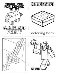 Free Download Mini Minecraft Coloring Book With Cutting Lines