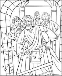 Coloring Page Of A Boy Praying Grace Before Meal See More Jesus Driving The Money Changers Out Temple