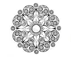 Skull Mandala Coloring Pages