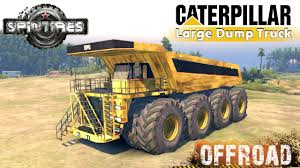 100 Large Dump Trucks SpinTires Caterpillar 257M 8x8 Truck