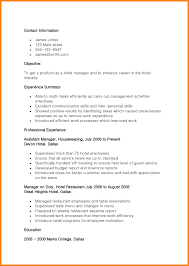 Resume Sample For Ojt Hotel And Restaurant Management