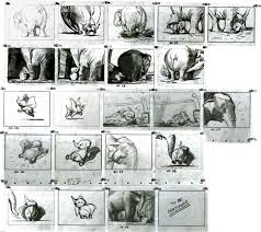 These Marvelous Story Sketches Of Dumbo And His Mother By Disney Maestro Bill Peet Lay Out All The Action Emotions Such Poignant Storytelling