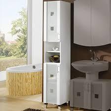 badezimmer hochschrank ustraga weiß hochglanz milchglas