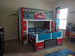 100 Fire Truck Loft Bed Station With Bunk Do It Yourself Home Projects