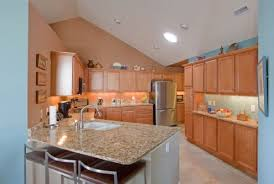 creative paint colors for kitchens with light oak cabinets and