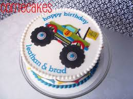 100 Monster Truck Cookies B Day Cake Iced In Bc With Mmf Decorations And