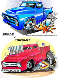 Trosley Art   Adrian Bruce Vs George Trosley - Dueling 1955 Ford ... Color Bus On Truck And Cars Cartoon For Kids Fun Colors Truck Drawing At Getdrawingscom Free Personal Use Illustration Trucks Vehicles Machines Stock Seamless Pattern Made Cartoon Cars Trucks Vector Image Car Ricatures Cartoons Of Motorcycles Development The Yellow Excavator 627 Monster Cliparts And Royalty Tow Adventures Service Mercedesbenz Vehicle Vans Images Of Group 69