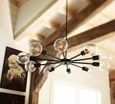 Pottery Barn Bedroom Ceiling Lights by Mid Century Orb Chandelier Pottery Barn Lighting Fixtures