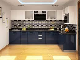 Blue Berry L Shaped Modular Kitchen