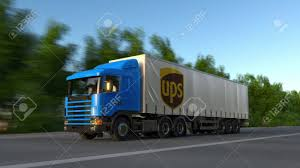 100 Semi Truck Road Service Freight With United Parcel UPS Logo Driving