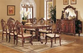 Light Golden Cherry Finish Queen Anne Style Formal Dining Room On