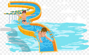Water Park Slide Swimming Pool