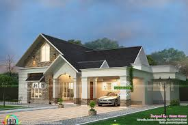 100 Bungalow Architecture 3 Bedroom Sloped Roof Bungalow Architecture Kerala Home