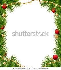 Christmas Tree Frame Template Fir Stock Ilration