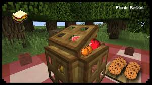 minecraft how to make a picnic basket youtube