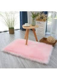 flauschiger teppich für den innenbereich sehr weich pink