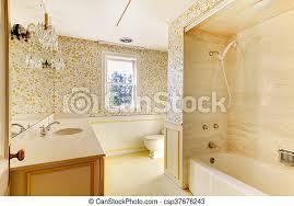antikes badezimmer altes klassisch haus tapete