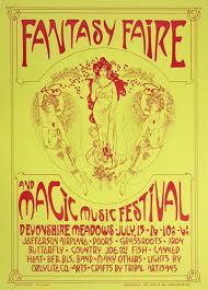 Fantasy Faire Magic Music Festival Original Concert Poster Vintage Rock Jefferson Airplane Doors