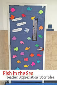 Fish In The Sea Easy Door Decorating Idea Featured With 21 Teacher Appreciation