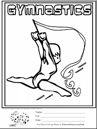 Stunning Olympic Gymnastics Coloring Pages With And Barbie