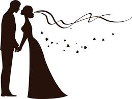 Silhouette Clipart Black And White Bride Groom Free Wedding Graphics Image