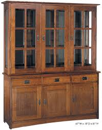 3 Door China Cabinets Furniture Oak Nobility With Mission Style
