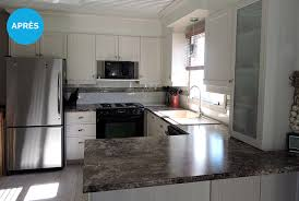 photo de cuisine design réalisation avant après refacing d armoires de cuisine résultats