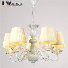 fabric shade pendant l chandelier fancy light light