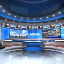 European Virtual Set News Studio 3d Model Virtual Sets Studio