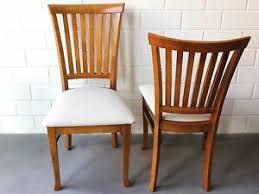 details zu stuhl mit polster im landhaus aus holz leinen für esszimmer hotel 2x stühle