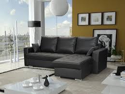 ecksofa sofa adara mit schlaffunktion kunstleder schwarz otto rechts