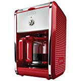 BELLA 13700 Dots Collection 12 Cup Coffee Maker Red