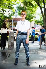 Harajuku Mens Streetwear Look W Vintage Snakeskin Pants DTTK Junya Watanabe