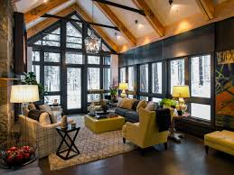 Living RoomDelightful Room Designs With Vaulted Ceilings And Brick Stone Flooring Ideas Dazzling