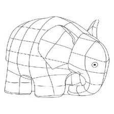 Elmer The Elephant Coloring Pages Page 1