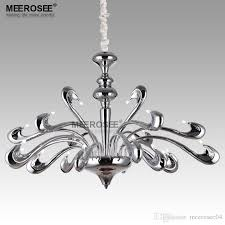 New Arrival Chrome Chandelier Light Swan Hanging Suspension Lamp For Villa High Quality Luminaire Home Lustres Lighting Black Modern Chandeliers