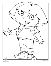 Dora The Explorer Coloring Pages Free Cartoon Jr