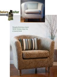 Ikea Chair Covers Tullsta by Taking An Ikea Chair From Beige Blah To Colorful And Rich Wow With