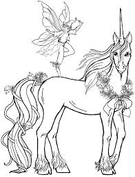 Pictures Fairy Boy With Unicorn Coloring Pages