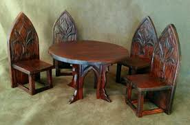 Gothic Arch Hand Carved Table & 4 Chairs Artisan Crafted, Medieval / Tudor  Dollhouse Miniature Furniture 1:12 Scale Amazing Medieval Dning Table With 6 Chairs In Se3 Lewisham Artstation Medieval And Chair Ale Elik Calcot Manor Console Table Sims 4 Peasants Kitchen Counters Set Design Impressive Decoration Wayfair Round Ding Tapestry Banqueting Hall Wooden Floors Unique And Chairs Thebarnnigh Fniture Wikipedia Trestle Style China Cabinet Idenfication Battle Themed Chess Set