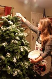 Why Not Flock Your Own Tree Here Are The CHEAP EASY Directions To Doing So By One Thrifty Mom Blogger Who Did W Her Little Girls